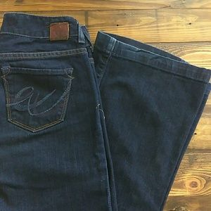 X2 fit and flare dark wash size 2 long jeans